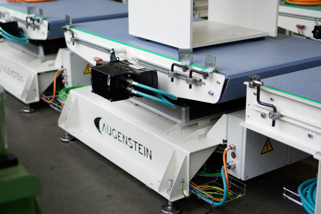 Kundenspezifische Fördertechnik entsteht bei Augenstein in eigener Konstruktion, Fertigung und Montage