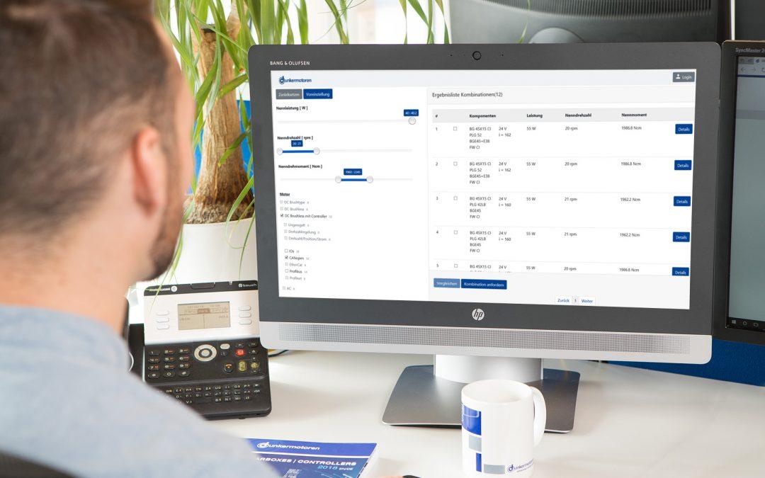 Online-Konfigurator für Antriebslösungen von 1 bis 4.000W