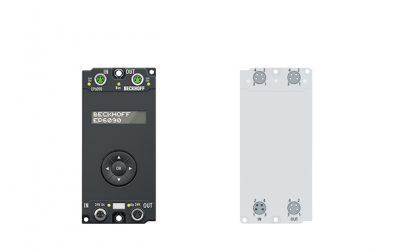 Displaybox mit Navigationstaster und Betriebsstundenzähler