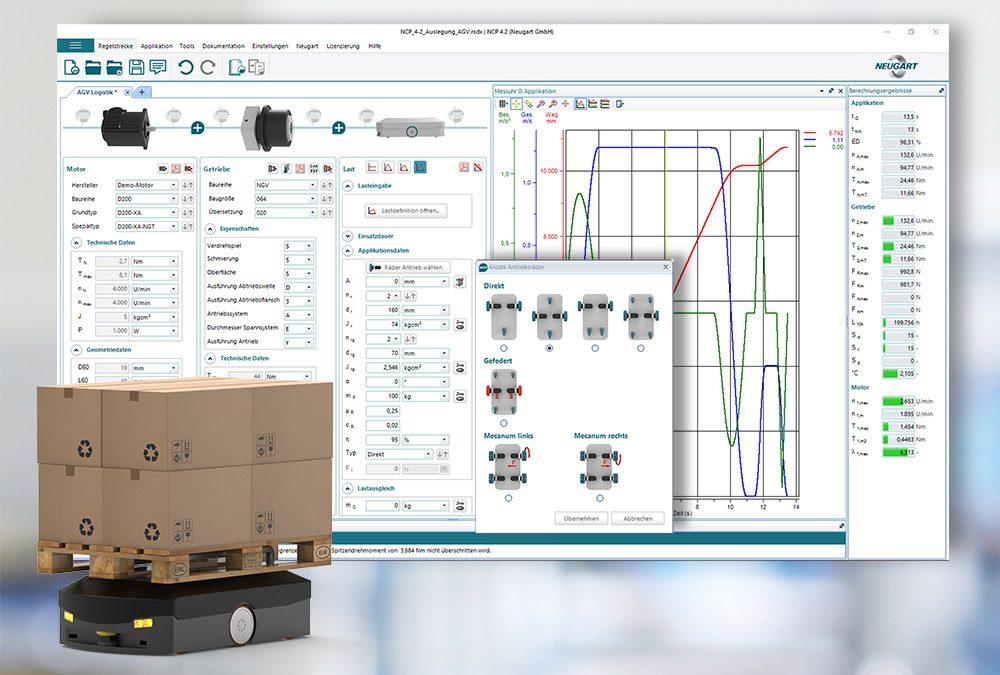 Neue Software-Version für die Getriebe/Motor-Kombination