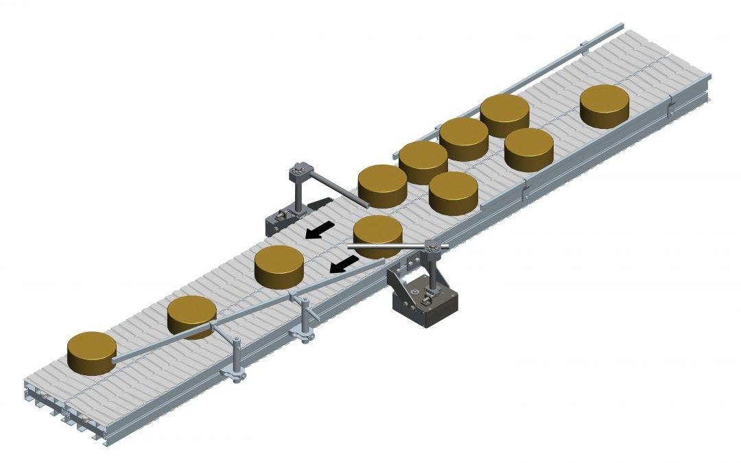 Modulkettenförderer mit intelligenter Zusammenführung