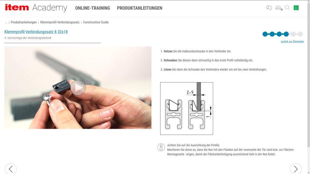 Der Anwender loggt sich direkt an der Werkbank über sein Tablet oder Smartphone ein und führt die beschriebenen Schritte der Produktanleitungen durch.