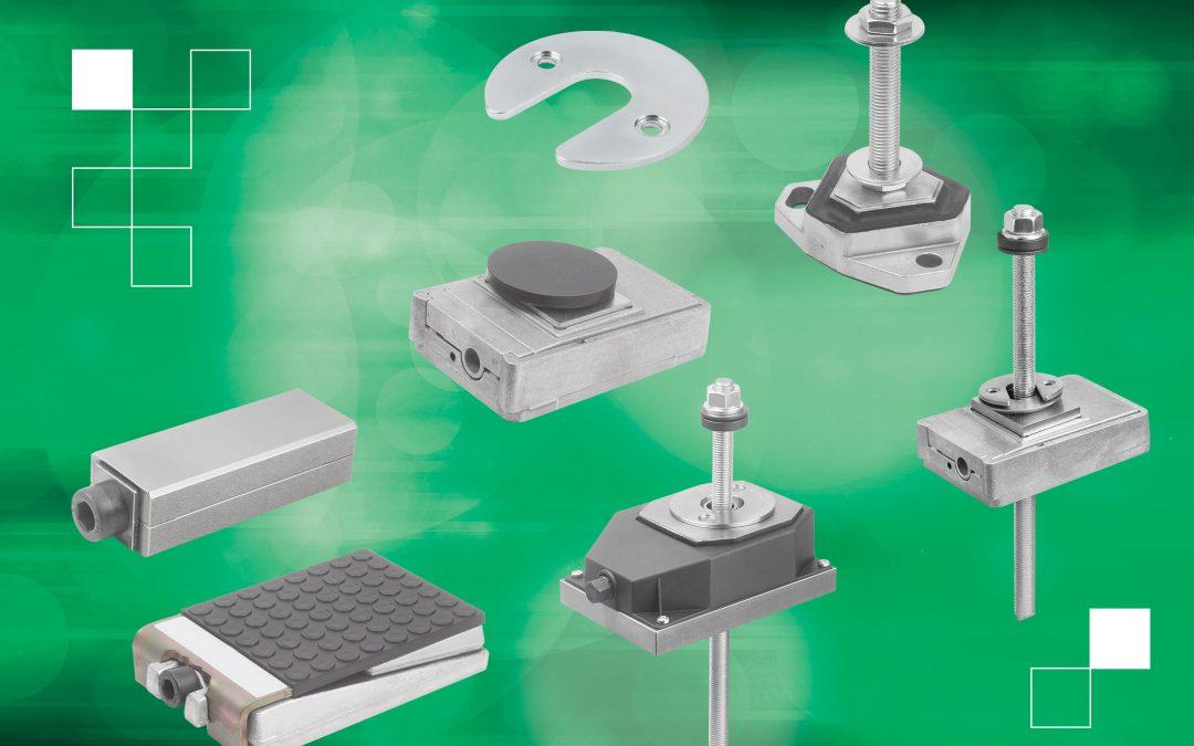 Flexibel Maschinen aufstellen mit Nivellierkeilen und Schwingungsdämpfern