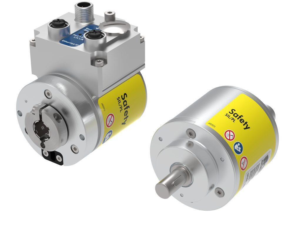 Der 58mm Absolutdrehgeber CD_582+FS Ethernet/IP - CIPsafety überträgt gesicherte Positionsdaten direkt über das CIPsafety-Protokoll über Ethernet/IP und erfüllt Safety-Standards SIL3/SIL2 oder PLe.