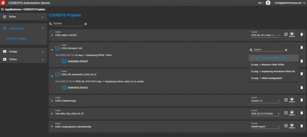 Auf einen Blick: Alle Projekte samt zugehörigen Applikationen einfach verwaltet
