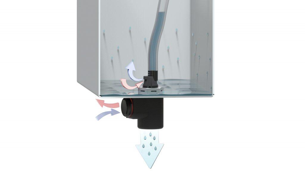 Bild 2 | Über die Out-Fit-Bauteile gelingt ein sicherer Druckausgleich im geschützten Gehäuse sowie die Kondensat-Ableitung.