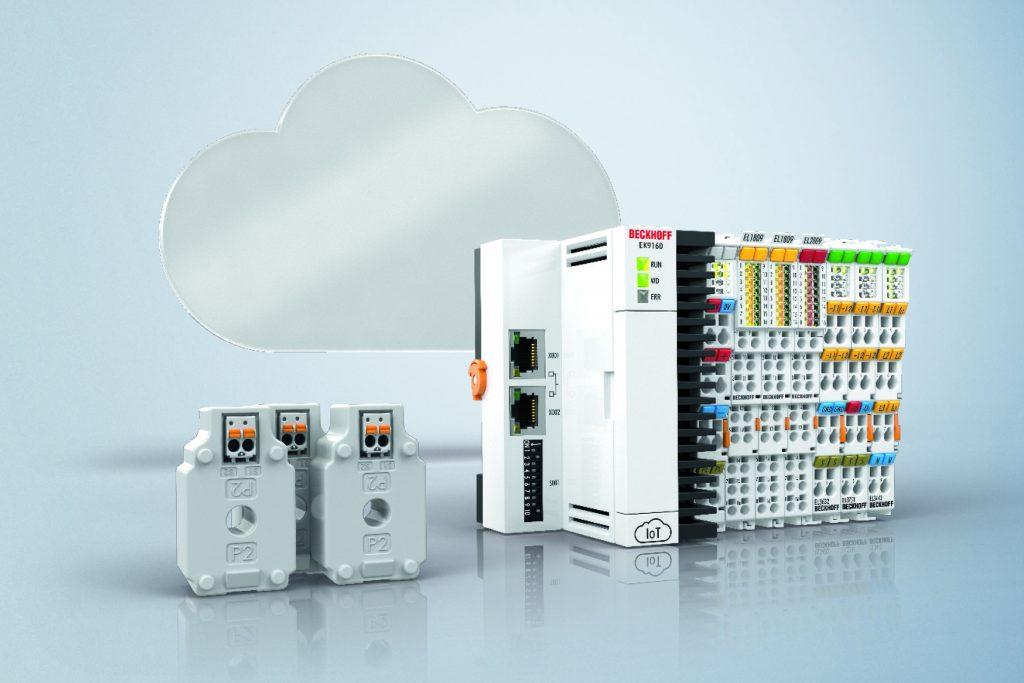 Mit PC-based Control gelangen die Energiemessdaten auf  lückenlosem Weg vom Stromsensor z.B. über den  IoT-Koppler EK9160 bis in die Cloud.