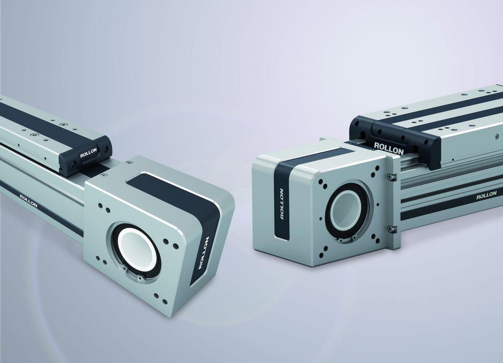 Durch den neu gestalteten Antriebskopf des Plus-Linearachssystems können Antrieb und Getriebe mit standardisieren Montagesätzen auf beiden Seiten montiert werden.