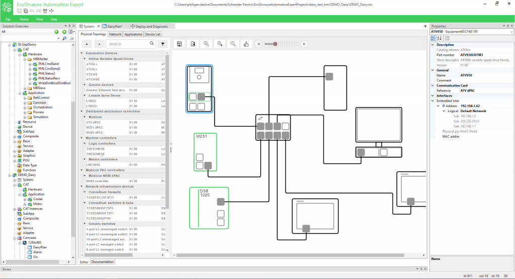 EcoStruxure Automation Expert ermöglicht verteilte Automatisierung mit anlagebezogenen, portablen und praxisbewährten Softwarekomponenten, unabhängig von der Hardware.