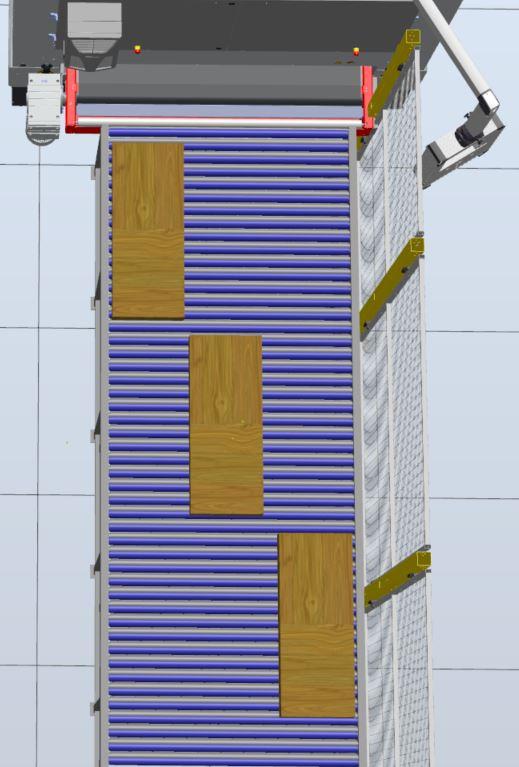 Gleichmäßige Bestückung der Maschine für eine homogene Abnutzung des Schleifbandes