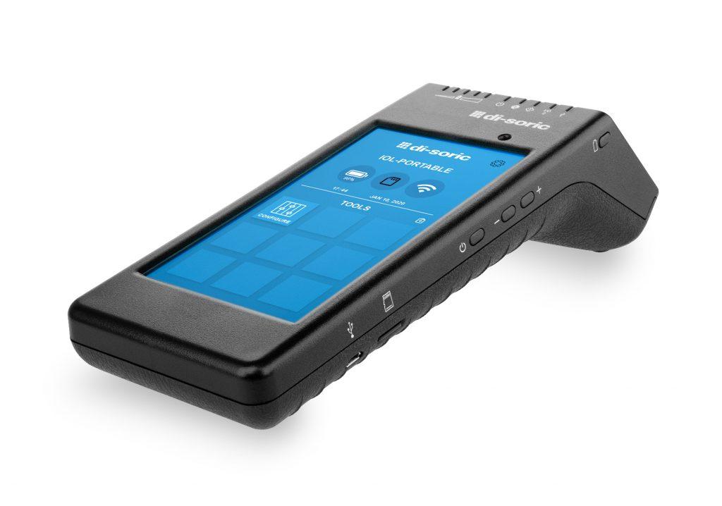 Das mobile und rund 600g schwere Handheld vereint Touchscreen, Steckverbinder, WLAN-Schnittstelle und Akku in einem kompakten Gerät.