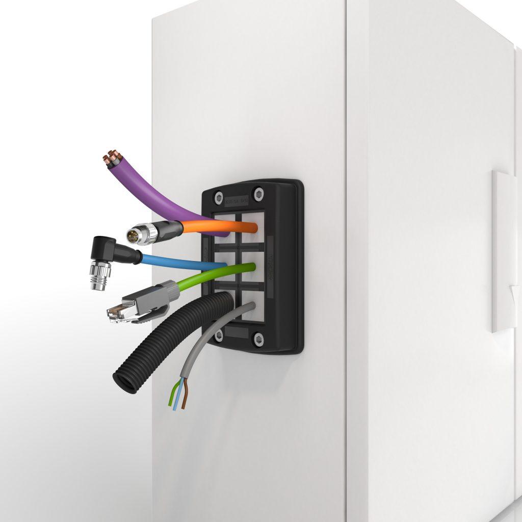 Bild 4 | KDSClick - die Mutter aller KDS-Kabeldurchführungssysteme aus dem umfassenden Kabelmanagement-Programm von Conta-Clip