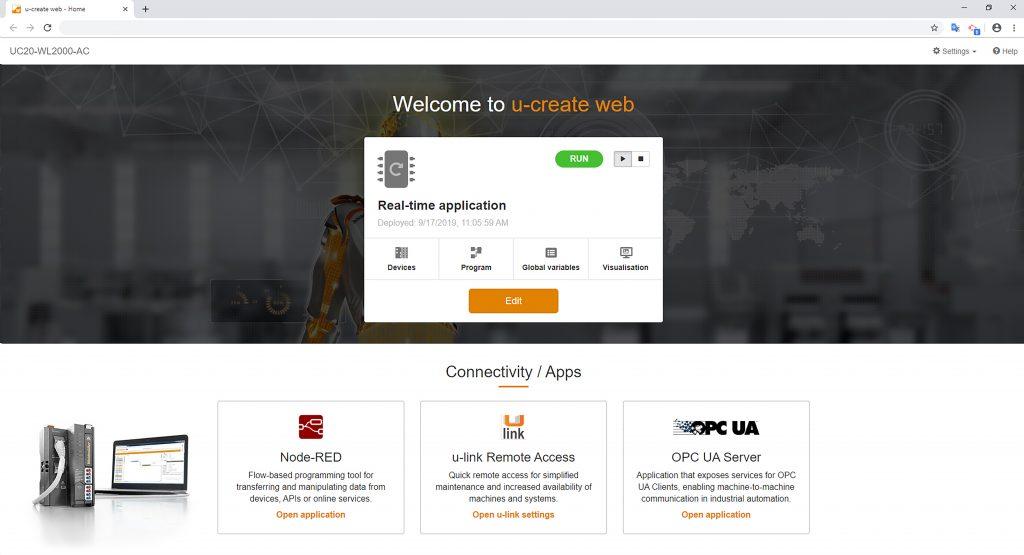 Die Software u-create web zielt als webbasiertes  Engineering Tool auf plattform- und ortsunabhängige Konfiguration, Systemparametrierung und Programmierung gemäß IEC61131-3 ab.