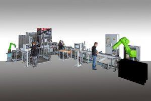 Die Projektierung von individuell auf den Kunden zugeschnittenen Produktionslösungen ist das Kerngeschäft von Edag PS - wie hier ein Montagesystem mit virtuellem Abbild für die Ruhr-Universität Bochum