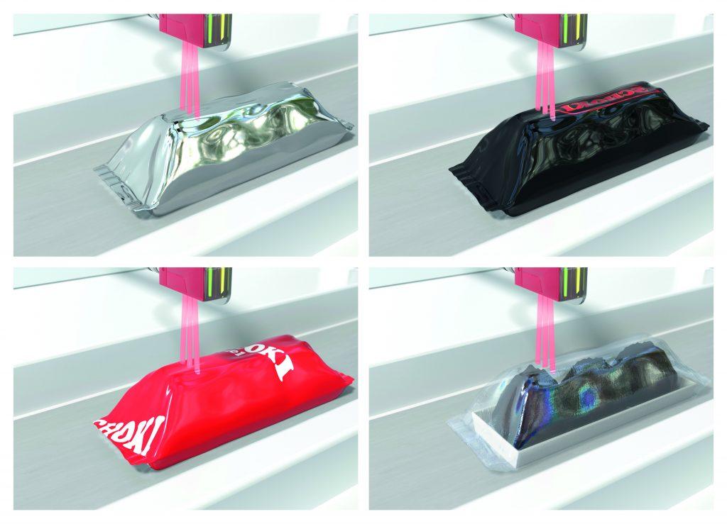 Der DRT 25C erkennt die Vorderkanten der Objekte zuverlässig. Durch die CAT-Referenztechnik werden Verpackungen unterschiedlicher Farbe und Transparenz als Abweichung von der Bandoberfläche erkannt.