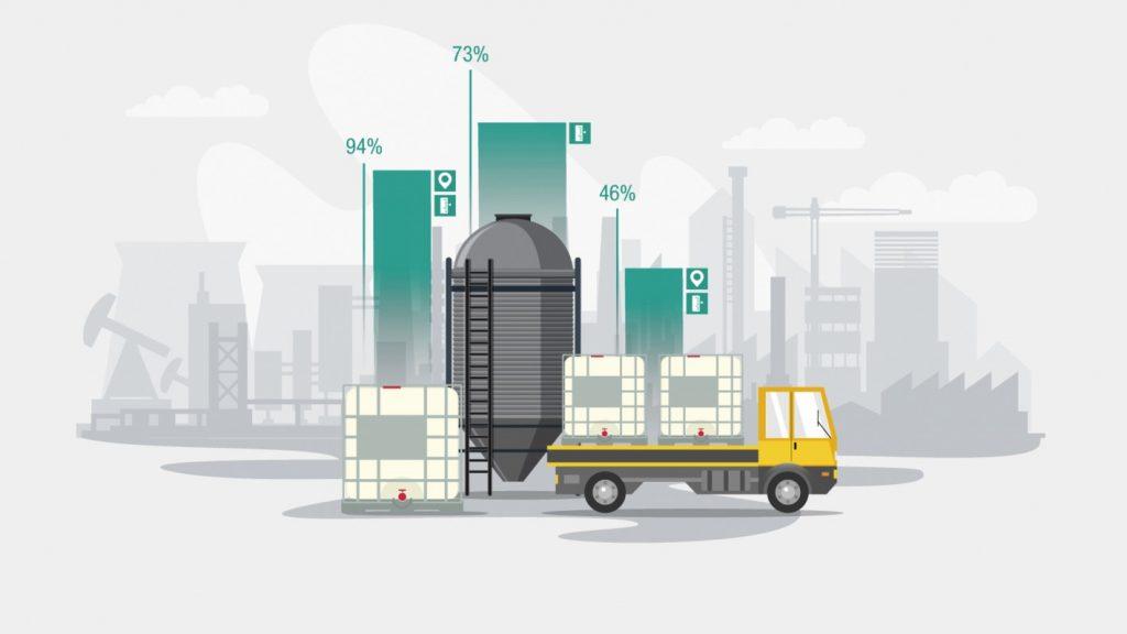 Der IoT-Füllstandsensor Wilsen.sonic.level. Eingesetzt werden können IoT-Füllstandsensoren in mobilen Containern, Tanks oder Silos.
