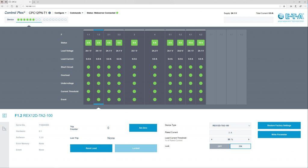 Der Webserver ermöglicht den Zugriff auf alle Daten.