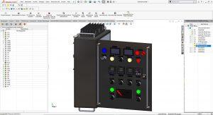 Außenansicht eines Schaltschranks in Solidworks Electrical.