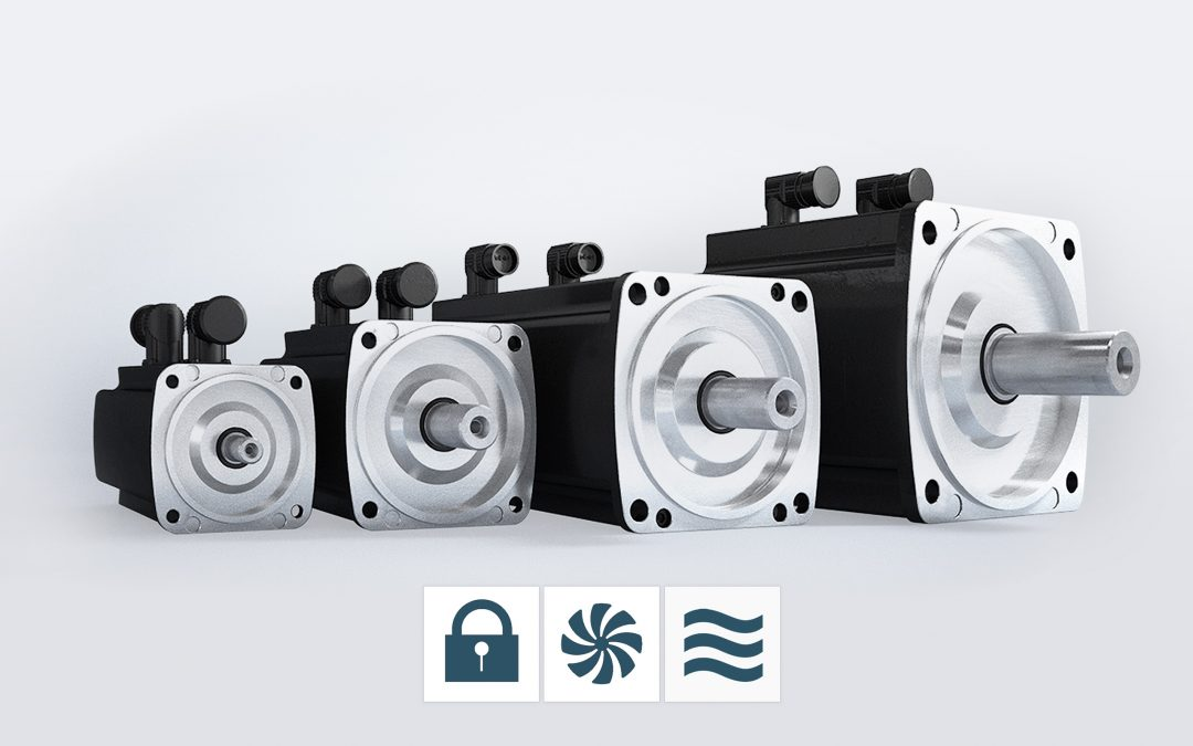 Neue wassergekühlte Motoren von Baumüller