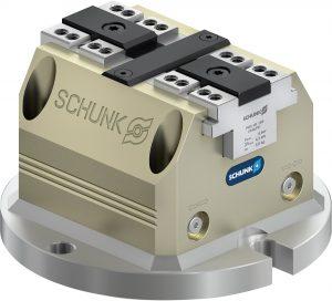 Den Spanner SCHUNK TANDEM PGS3-LH 100 für Automationseinsteiger gibt es als Starter-Kit mit Konsolplatte zur unmittelbaren Montage auf Maschinentischen, Teilapparaten oder SCHUNK VERO-S NSL3 150 Spannstationen.