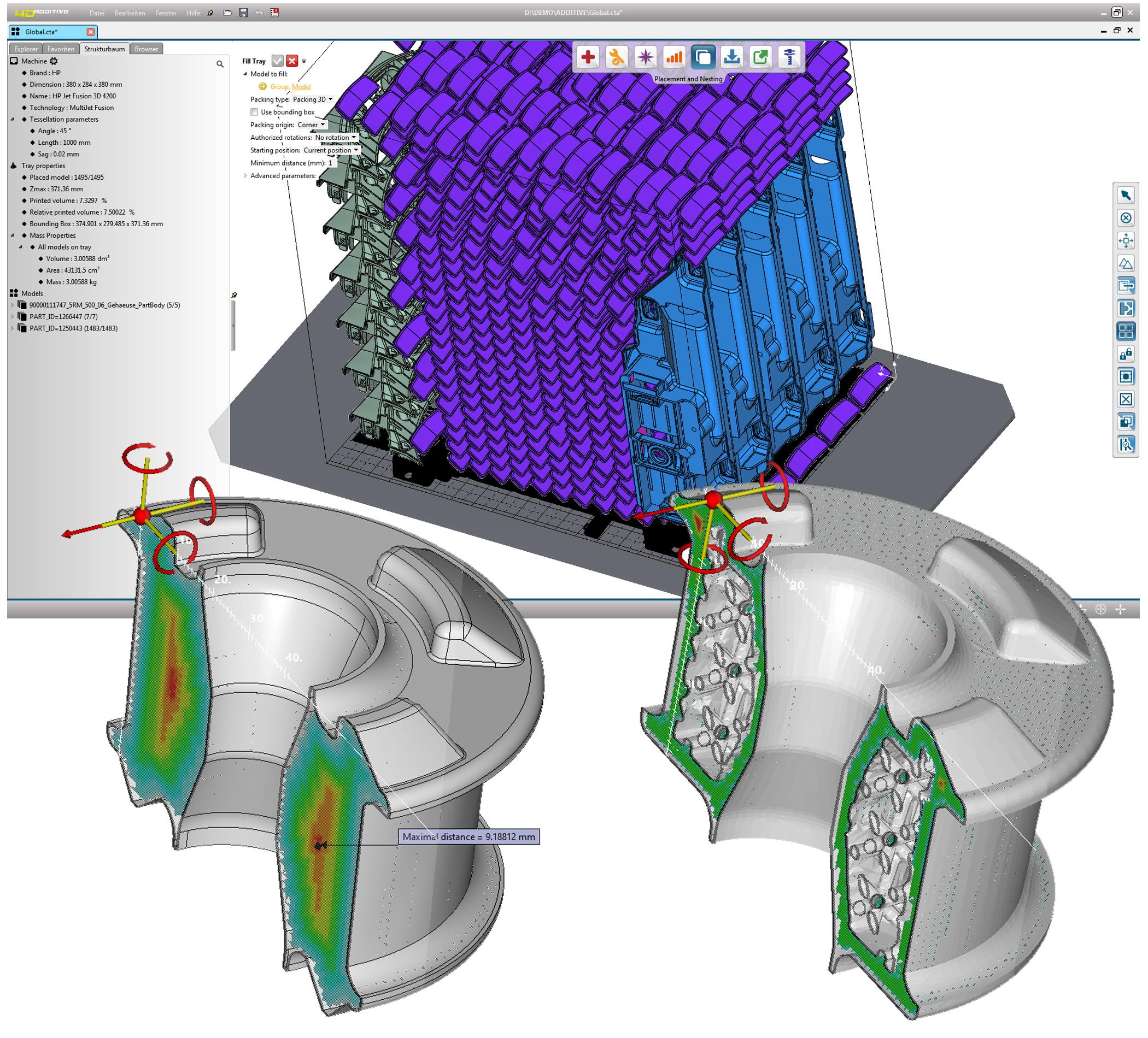 Künstliche Intelligenz für Bauteil-Nesting