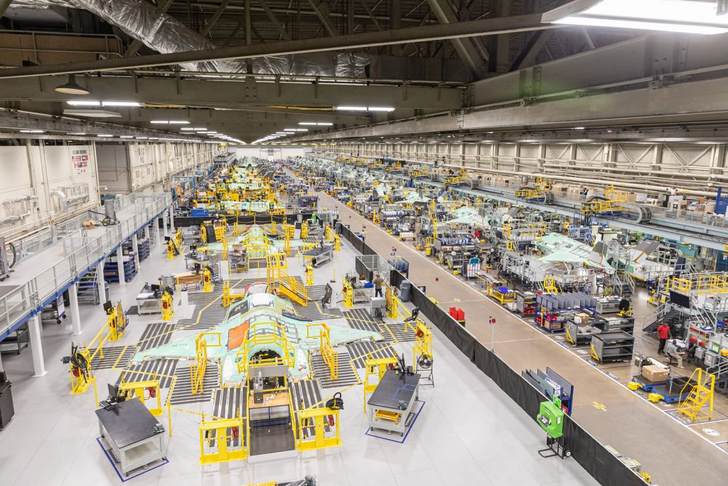 Das F-35-Werk von Lockheed Martin in Fort Worth (USA).