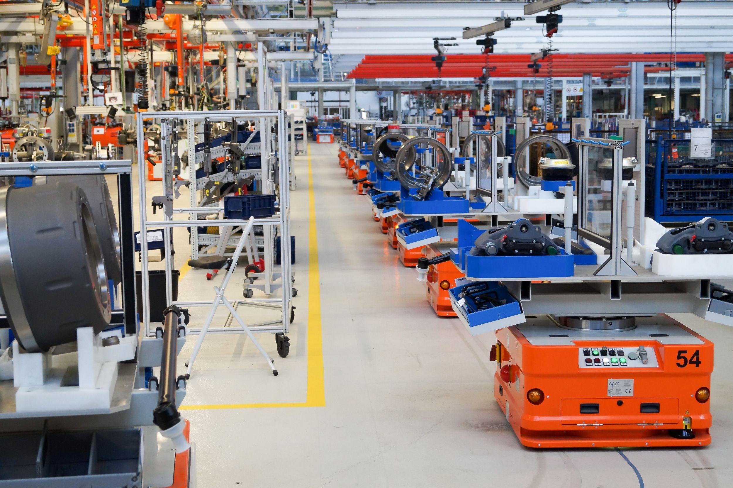 FTS für die Montage von Lkw-Achsen