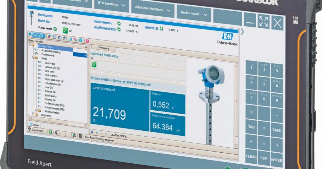 Die Bediensoftware des Field Xperts liefert detaillierte Informationen über die installierte Basis.