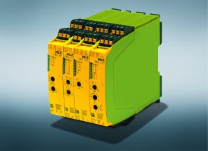 Hardwareseitig besteht myPNOZ aus einem Kopfmodul mit Spannungsversorgung und übergeordneter Sicherheitsfunktion sowie ansteckbaren Erweiterungsmodulen.