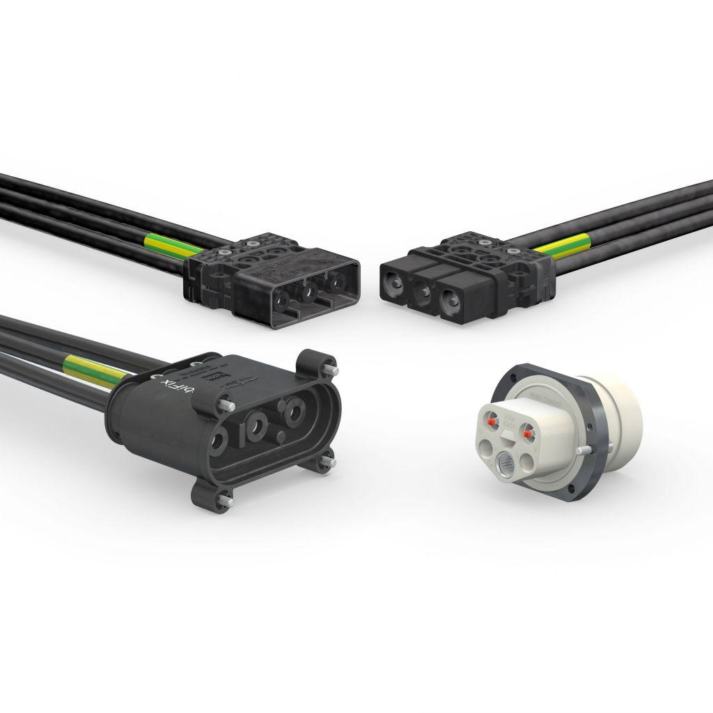 Primärkreissteckverbinder für die Stromversorgung von Schweißrobotern