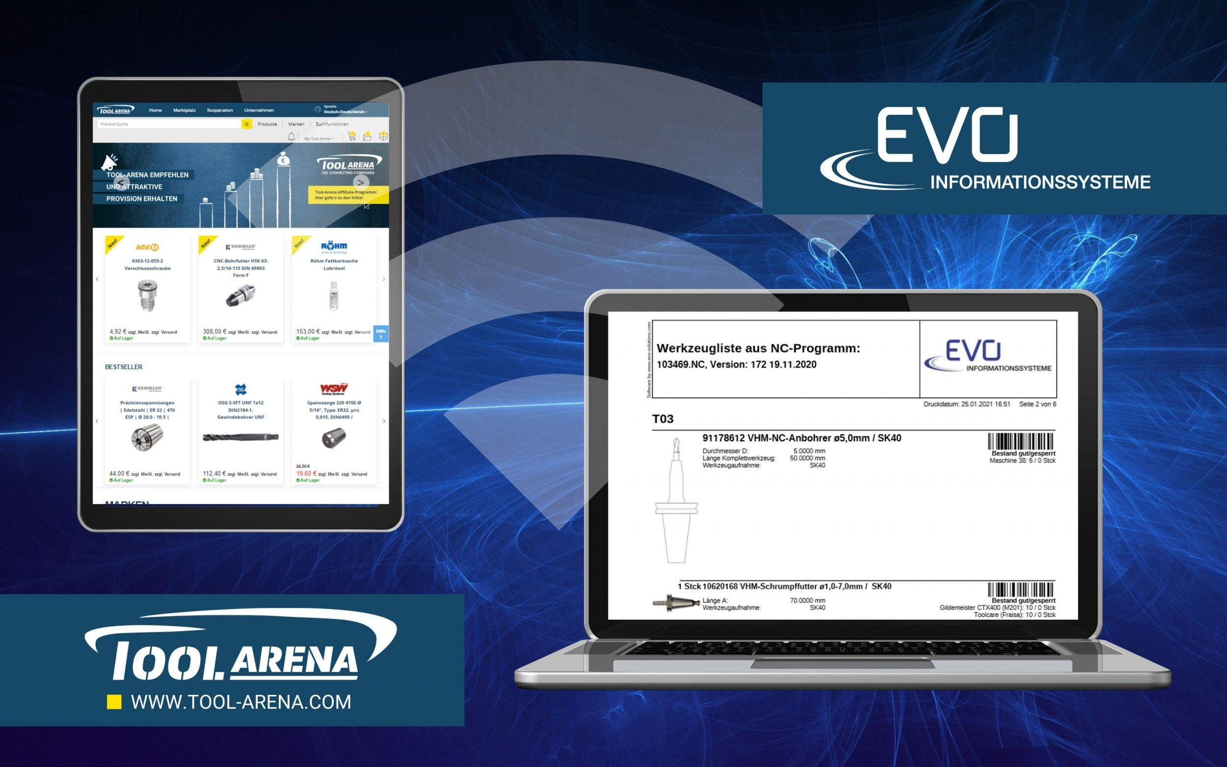 Tool-Arena und EVO arbeiten zusammen