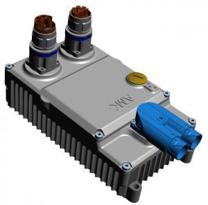 Die M23-Steckverbinder können wahlweise seitlich oder oben ausgeführt werden. Zusammen mit geraden oder orientierbar gewinkelten Steckern ist hier so gut wie jede Einbaulage möglich.