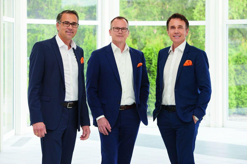 (v.l.) Geschäftsführer Lothar W. Kübler, Geschäftsführer Vertrieb/MarKom Martin Huth und Geschäftsführer Gebhard F. Kübler