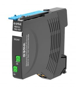 Der elektronische Schutzschalter Rex12-T sorgt bei der Maschine für den enstprechenden Überstromschutz.
