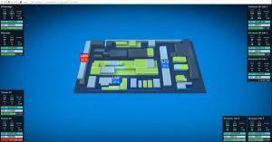 Das Live-Dashboard im Rittal-Werk visualisiert alle relevanten Parameter und Kennzahlen.