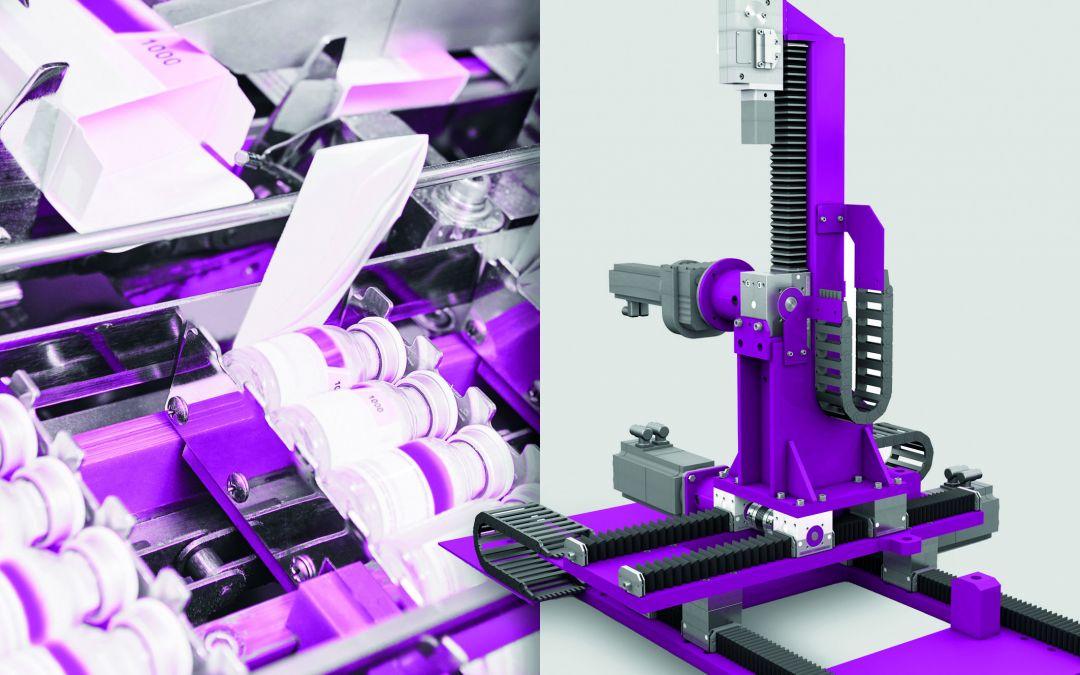 Zahnstangengetriebe für die Verpackungsindustrie