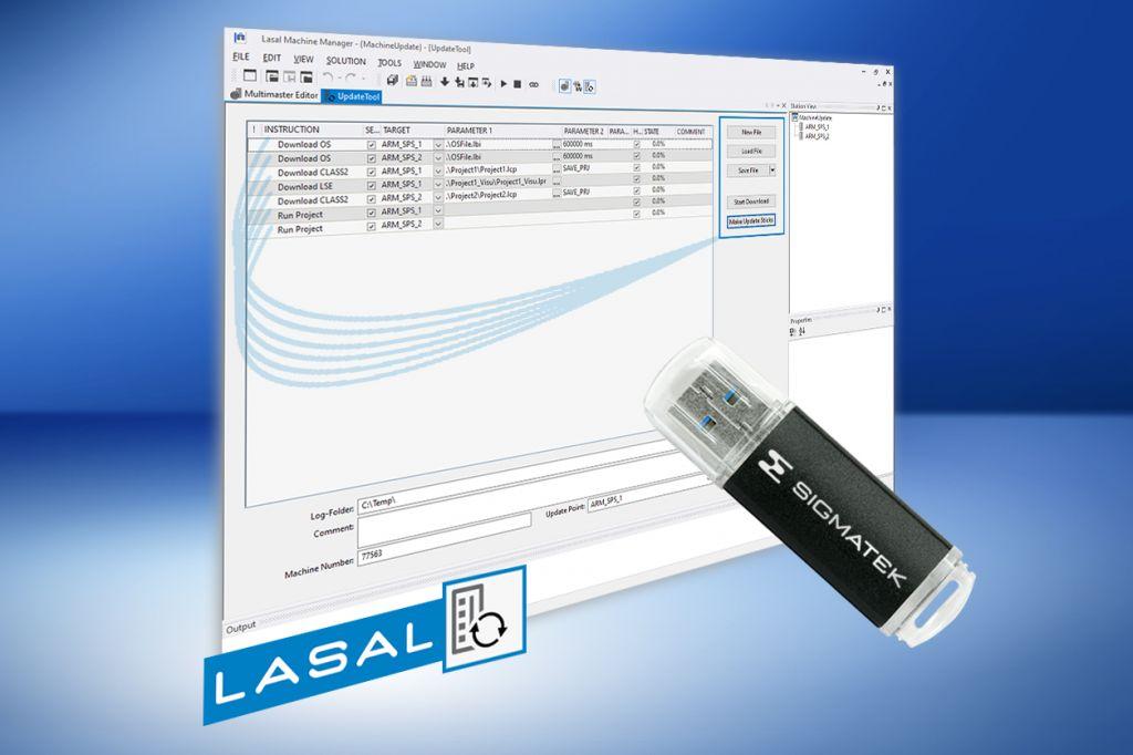 Sigmateks Lasal erleichtert es den Anwendern künftig, Updates einzuspielen.