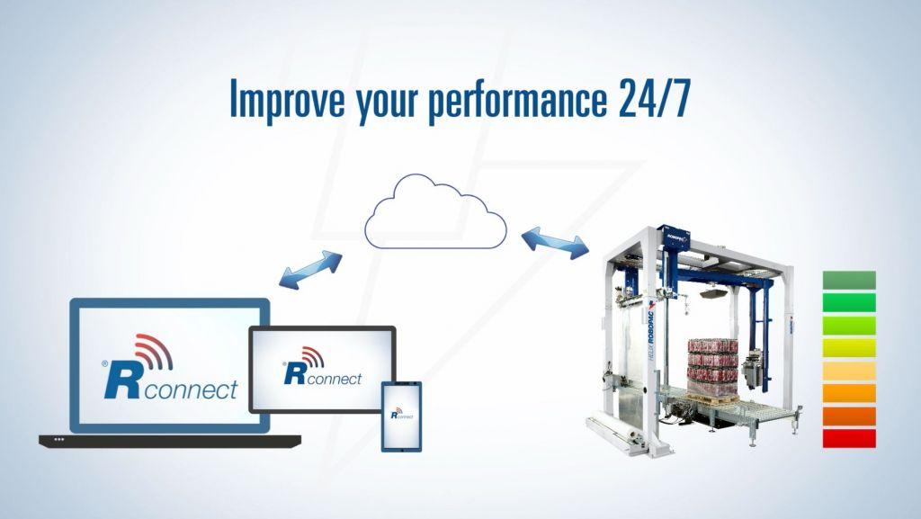 Robopac hat eine eigene Überwachungssoftware entwickelt, mit der es möglich ist, via Cloud den Maschinenstatus sowie den Folienverbrauch in Echtzeit zu betrachten, Defekte auf ihren Ursprung zurückzuführen und somit die Verfügbarkeit und Kosten zu überprüfen.
