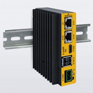 Höchst kompakt und leistungsstark: Die Baumüller-Steuerung b maXX PLC kombiniert Industrie-PC und klassische PLC-Steuerung auf einer gemeinsamen Hardware. Sie besticht durch einen sehr geringen Platzbedarf und zeichnet sich zudem durch eine sehr gute Performance mit hochsynchronen Echtzeittasks aus.