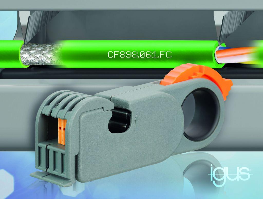 Die FastConnect Technologie für chainflex Profinet-Leitungen sorgt für eine schnelle Stecker-Konfektionierung.
