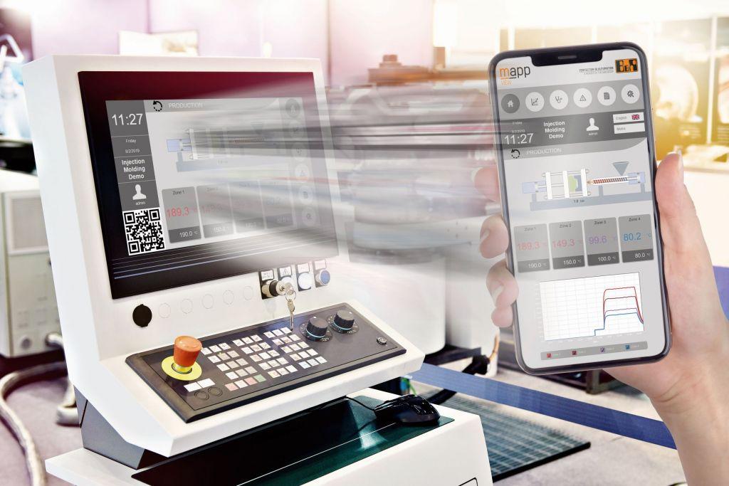 Maschinenbediener können ihre Maschinen nun auch von mobilen Geräten aus steuern und sich während der Arbeit frei bewegen.