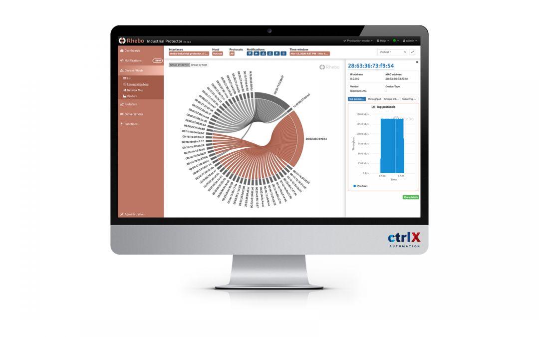 Integrierte Cybersecurity für ctrlX Automation