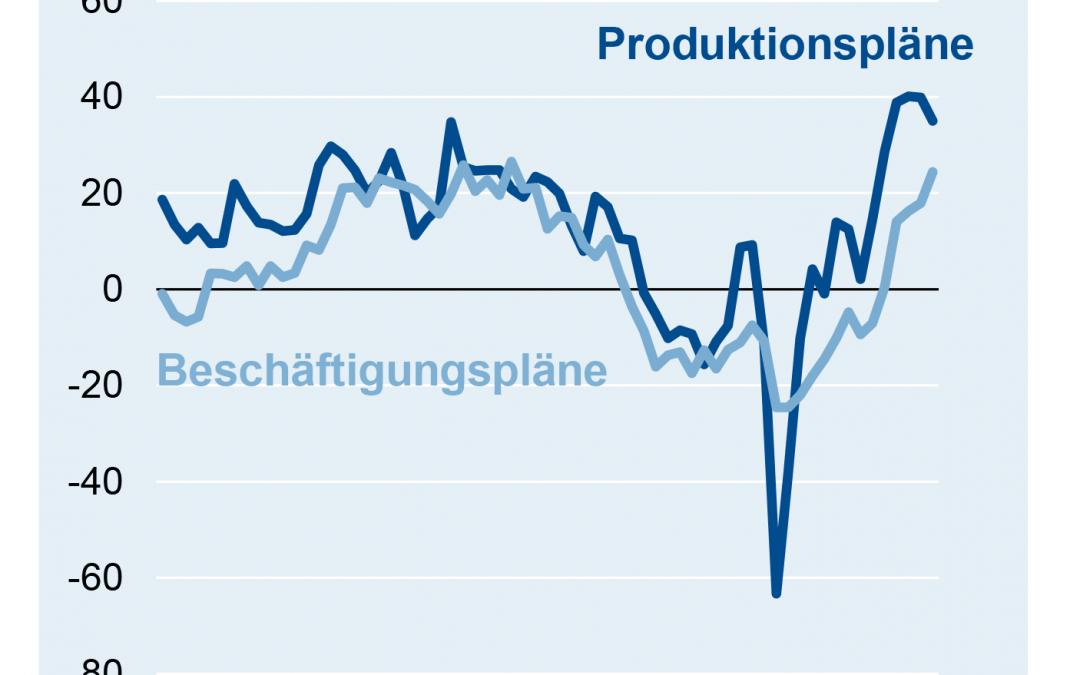 Produktion in der deutschen Elektroindustrie im April 2021