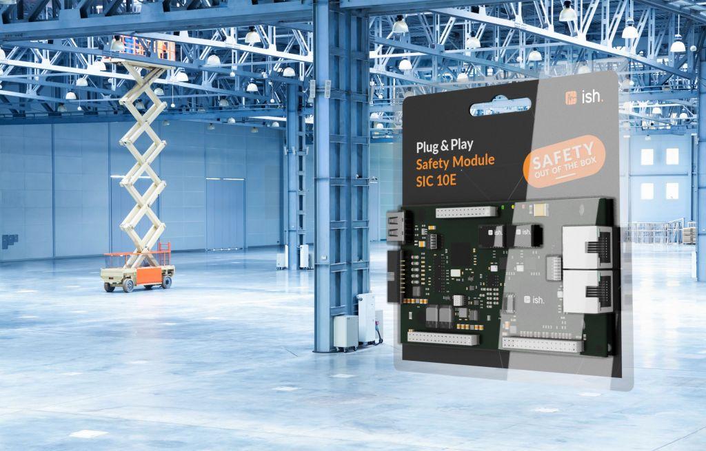 Mit Plug&Play-Safety-Modulen von ISH können Unternehmen den Aufwand für die Entwicklung von Systemen für die funktionale Sicherheit deutlich reduzieren, z.B. im Bereich der Hubbühnen.