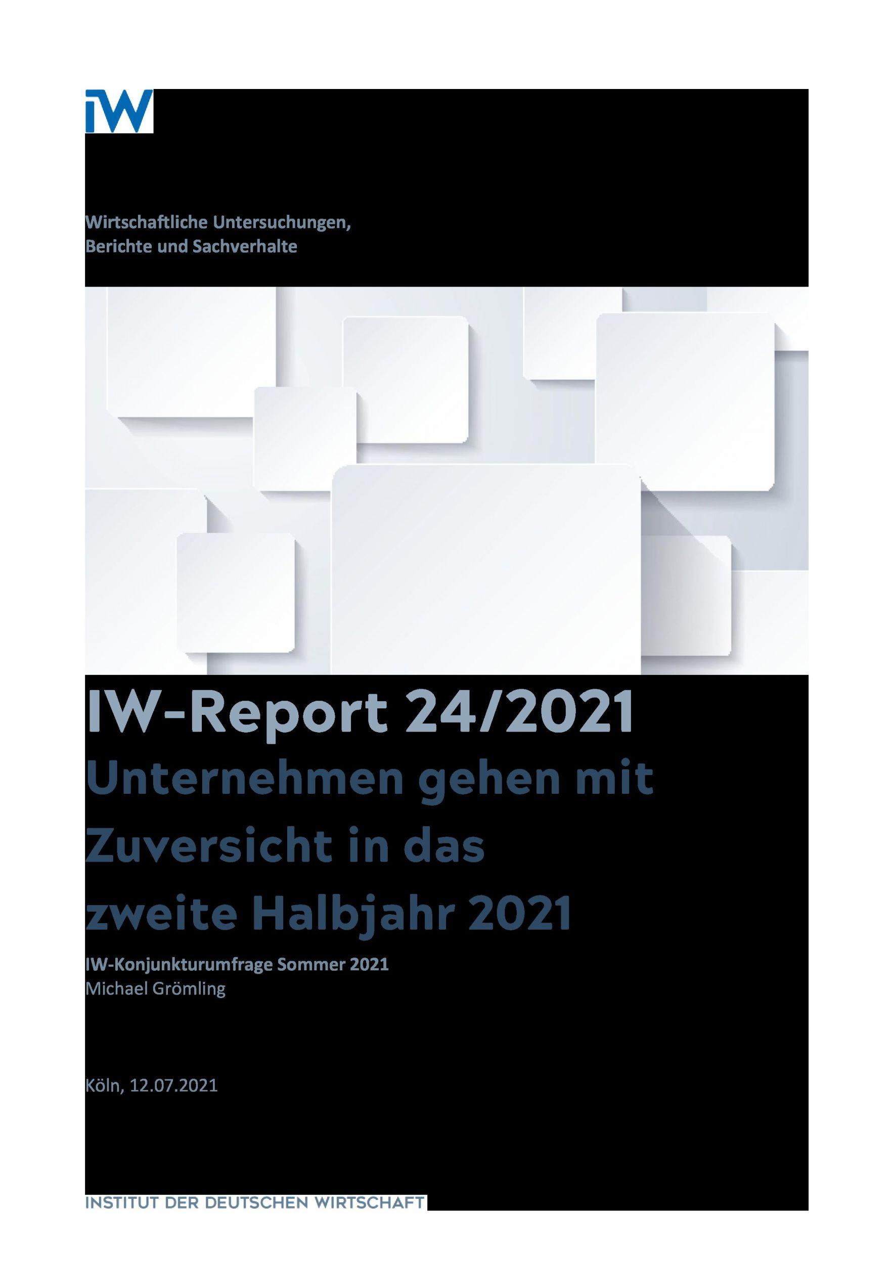 IW-Konjunkturumfrage: Endlich wieder Optimismus