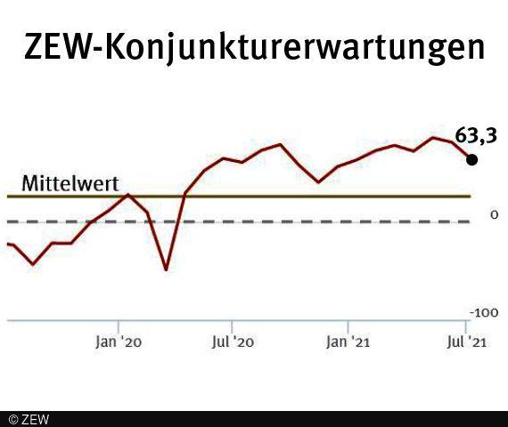 Konjunkturerwartungen für Deutschland im Juli 2021