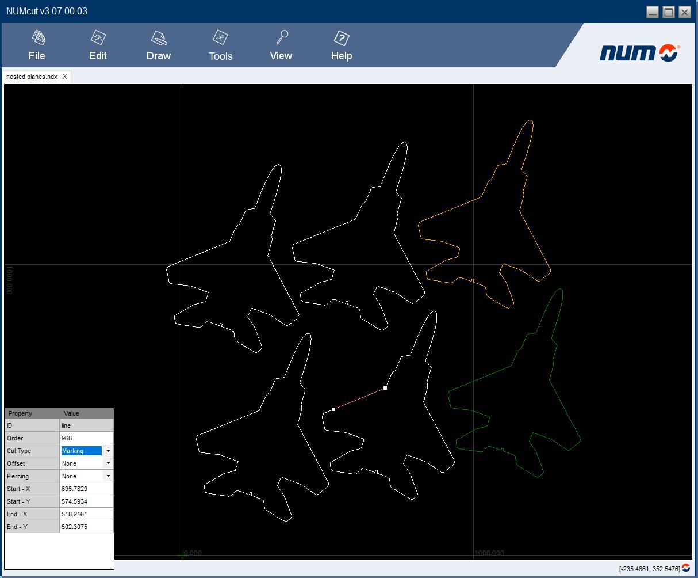 CAD-Software für vereinfachte 2D-Bahnkonstruktion bei Schneidemaschinen