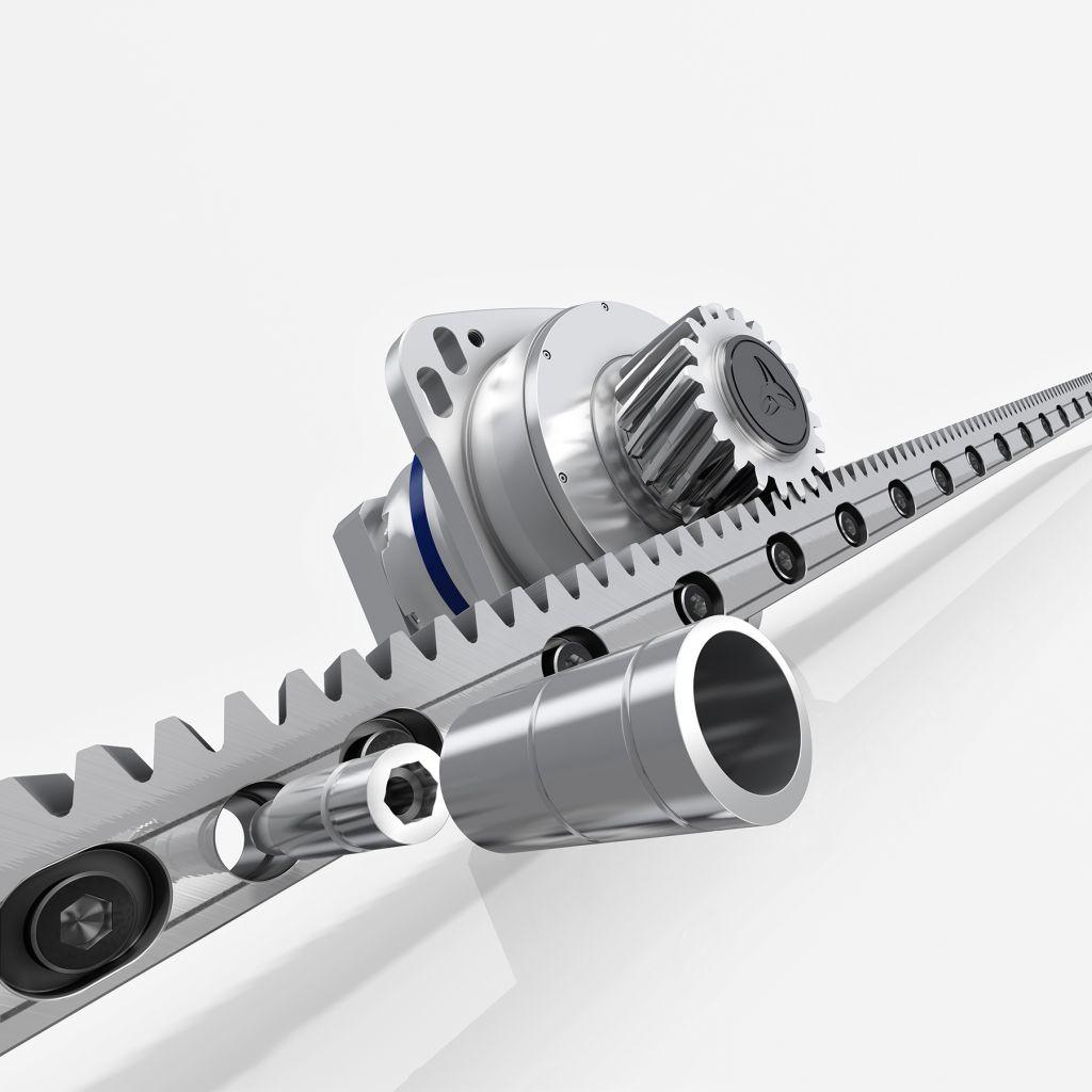 Bei Inira clamping werden nach dem Einsetzen und Einschrauben der Zylinderschrauben exzentrische Montagehülsen auf den Schraubenkopf aufgesetzt und beim Anziehen automatisch justiert.