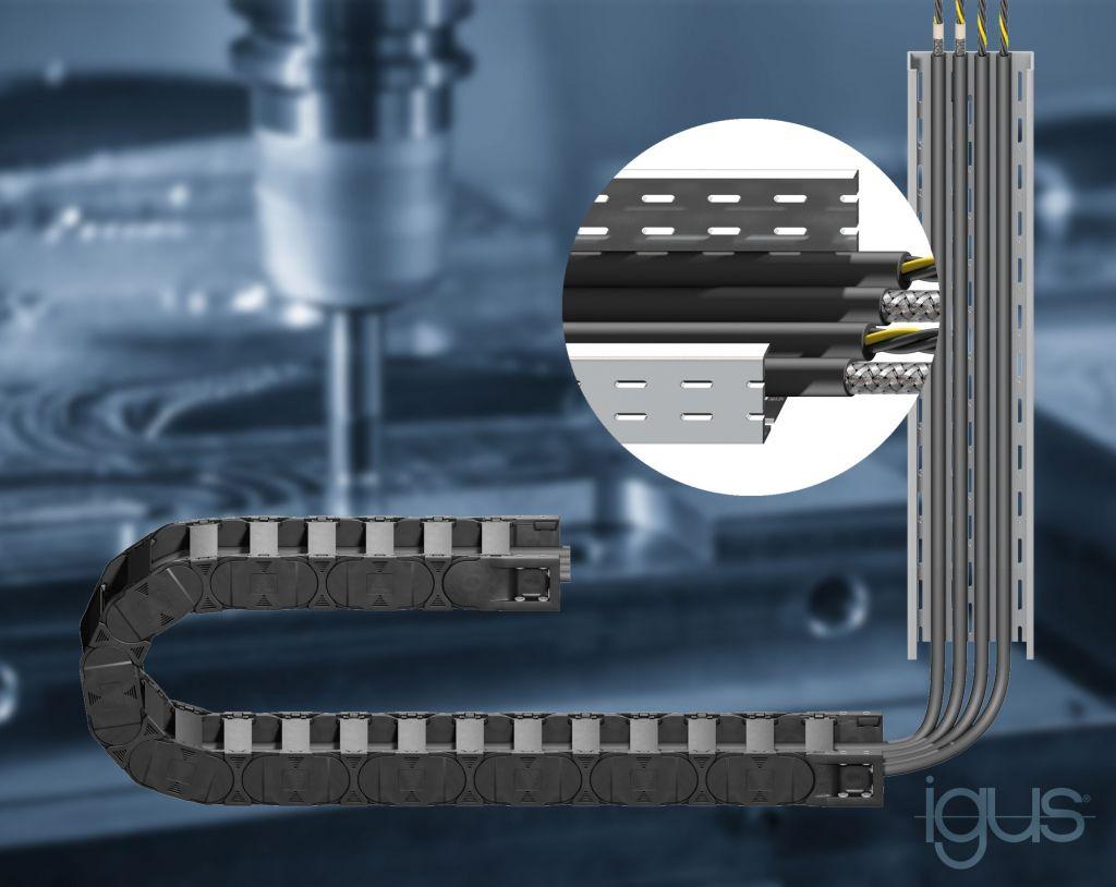 Die Leitungen CF150 und CF160 sind speziell für den Einsatz in der Energiekette und in der Kabelpritsche ausgelegt.