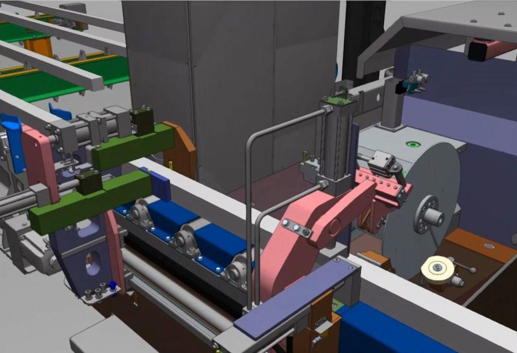 Digitaler Zwilling einer Sägemaschine von Framag Industrieanlagenbau